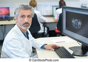 trabalhador, imaging, cuidados de saúde