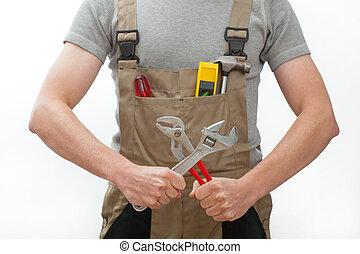 trabalhador manual, ferramentas