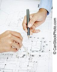 trabalhar, blueprint
