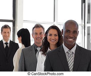 trabalhe, equipe negócio