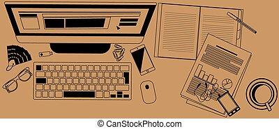 trabalhe escrivaninha