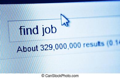 trabalho, achar