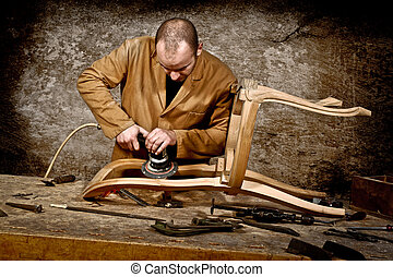 trabalho, carpinteiro