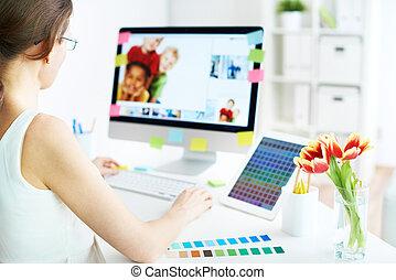 trabalho, computador