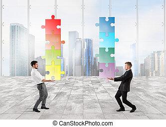 trabalho, cooperação
