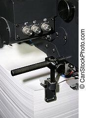 trabalho, de, a, impresso, equipamento