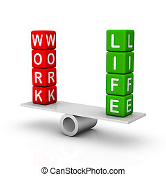 trabalho, e, vida, equilíbrio