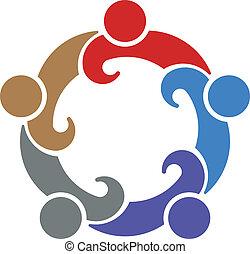 trabalho equipe, 5., vetorial, convenção