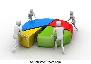 trabalho equipe, conceito negócio