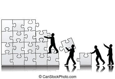 trabalho equipe, conceito