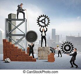 trabalho equipe, de, businesspeople