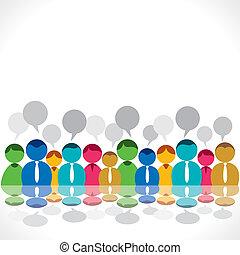 trabalho equipe, grupo, ou, pessoas