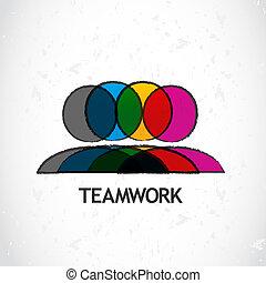 trabalho equipe, incorporado