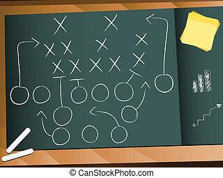 trabalho equipe, jogo football, plano, estratégia