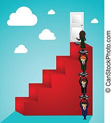 trabalho equipe, passos, sucesso, pessoas negócio