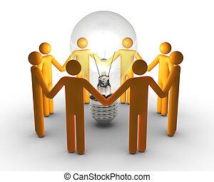 trabalho, idéias, equipe
