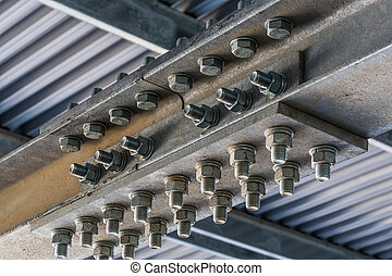 trabalho metal, closeup, estrutural