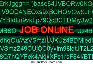 trabalho, online