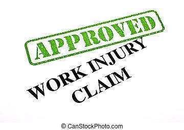 trabalho, reivindicação, ferimento, aprovado