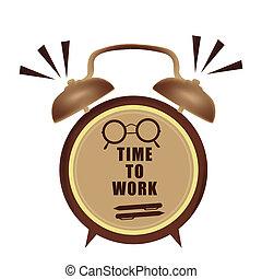 trabalho, relógio tempo