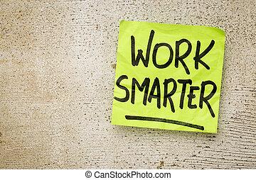 trabalho, smarter, lembrete