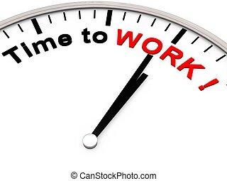 trabalho, tempo