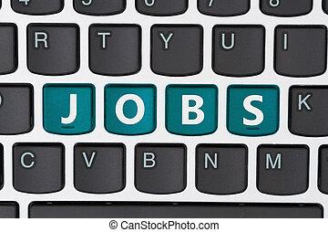 trabalhos, procurar, online