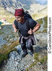 traccia, segno, scia, equipaggi escursionismo, backpacker
