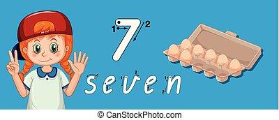 tracciato, sette, numero, guida