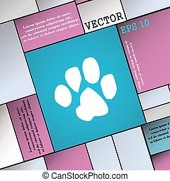 trace dogs icon sign. Modern flat style for your design. Vector