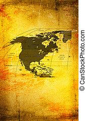trace experiência, antiga, canadá, antigas, méxico, américa