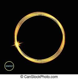 trace., magie, frame., banner., brûler, lumière, énergie, néon, rond, incandescent, cercle, circle., anneau, briller