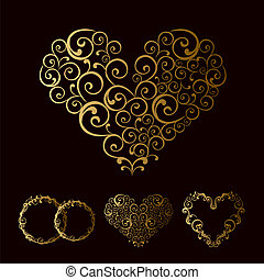 tracery  wedding love heart
