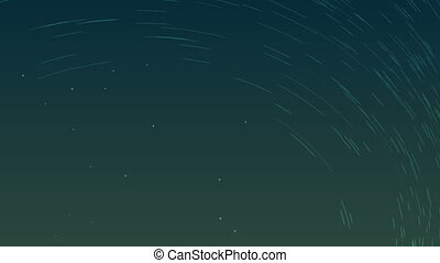 Traces from stars in the form of lines, created clip