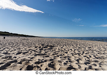 Traces in the sand on the Baltic Sea