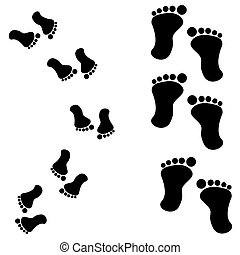 Traces of feet