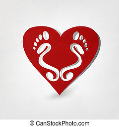 Traces of Love. Vector