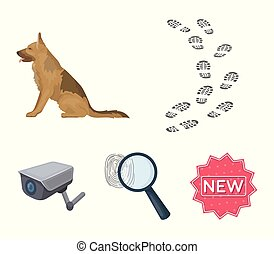 Traces on the ground, service shepherd, security camera,...