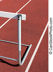 track and field - hurdle close up