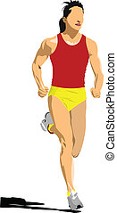Track and field. Male Javelin thro