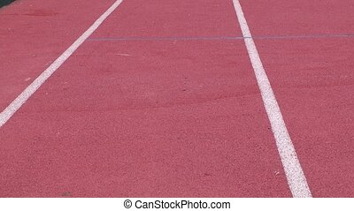 track and field - runners lanes on a track