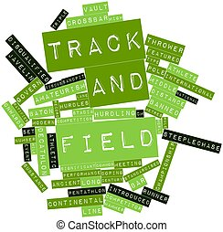 Track and field - Abstract word cloud for Track and field...