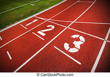 Track and field - An olympic running track
