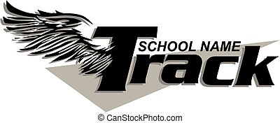track design - school track design with wings