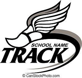 track design - track and field design with winged foot