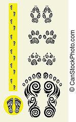 Track feet icons