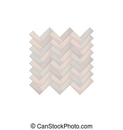 Track from the gray rectangular tiles. View from above. Vector illustration.