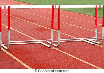 A track competiton hurdle