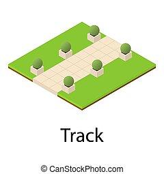 Track icon, isometric style