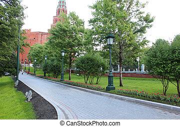 Track in the Alexander Garden